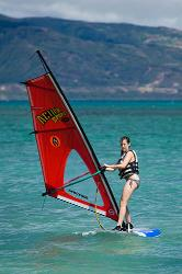 Windsurf, Maui, Hawaii, beach, coast, ocean, girl, sail