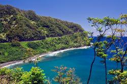 Hana Highway, coast, Maui, Hawaii, bay, ocean, water, surf